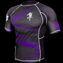 Metaru 47 Silver Rashguard Shortsleeve - Purple